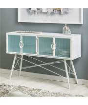 Aparador Buffet Metalico Blanco Industrial Actual Asitans